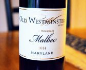Old Westminster Winery & Vineyard 2014 South Mountain Malbec