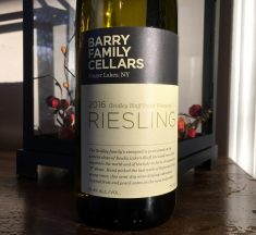 Barry Family Cellars 2016 Gridley Bluff Point Vineyard Riesling
