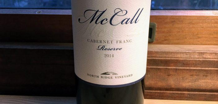 McCall Wines 2014 North Ridge Vineyard Cabernet Franc Reserve