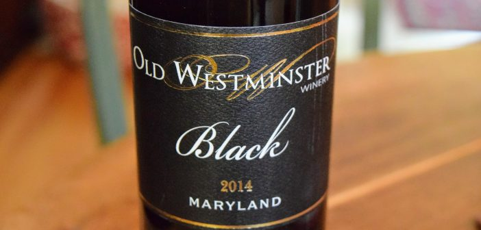 """Old Westminster Winery 2014 """"Black"""" Red Blend"""