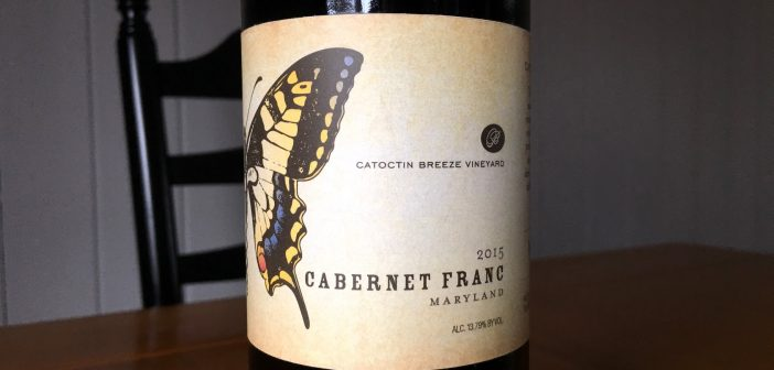 REVIEW: Catoctin Breeze Vineyard 2015 Cabernet Franc
