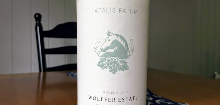 "REVIEW: Wolffer Estate 2015 ""Fatalis Fatum"" Red Blend"