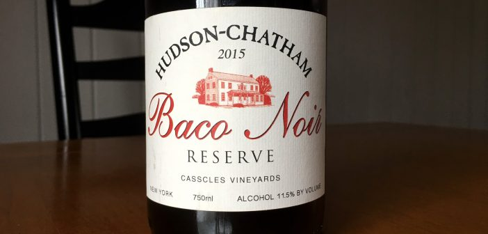 REVIEW: Hudson-Chatham Winery 2015 Casscles Vineyard Baco Noir Reserve