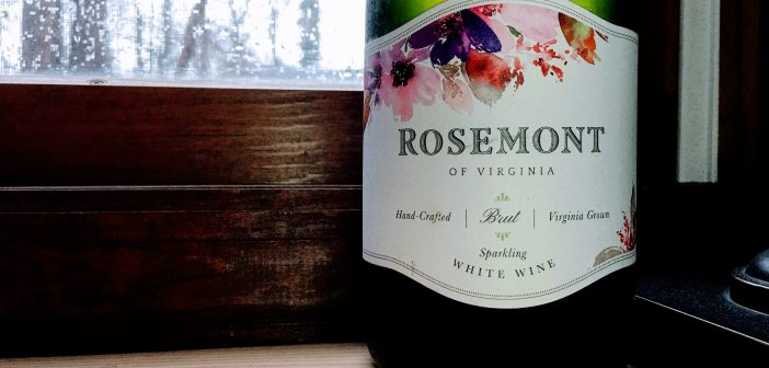 REVIEW: Rosemont of Virginia 2016 Brut Sparkling White Wine