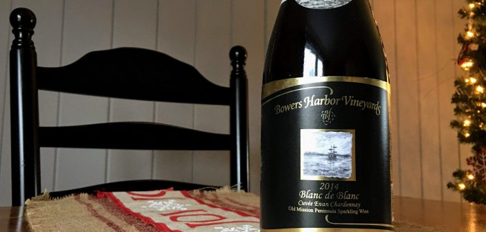 REVIEW: Bowers Harbor Vineyards 2014 Blanc de Blanc Cuvee Evan Chardonnay