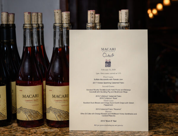 "[PICTURES] ""Sunday Supper @ Orto"" with Macari Vineyards"
