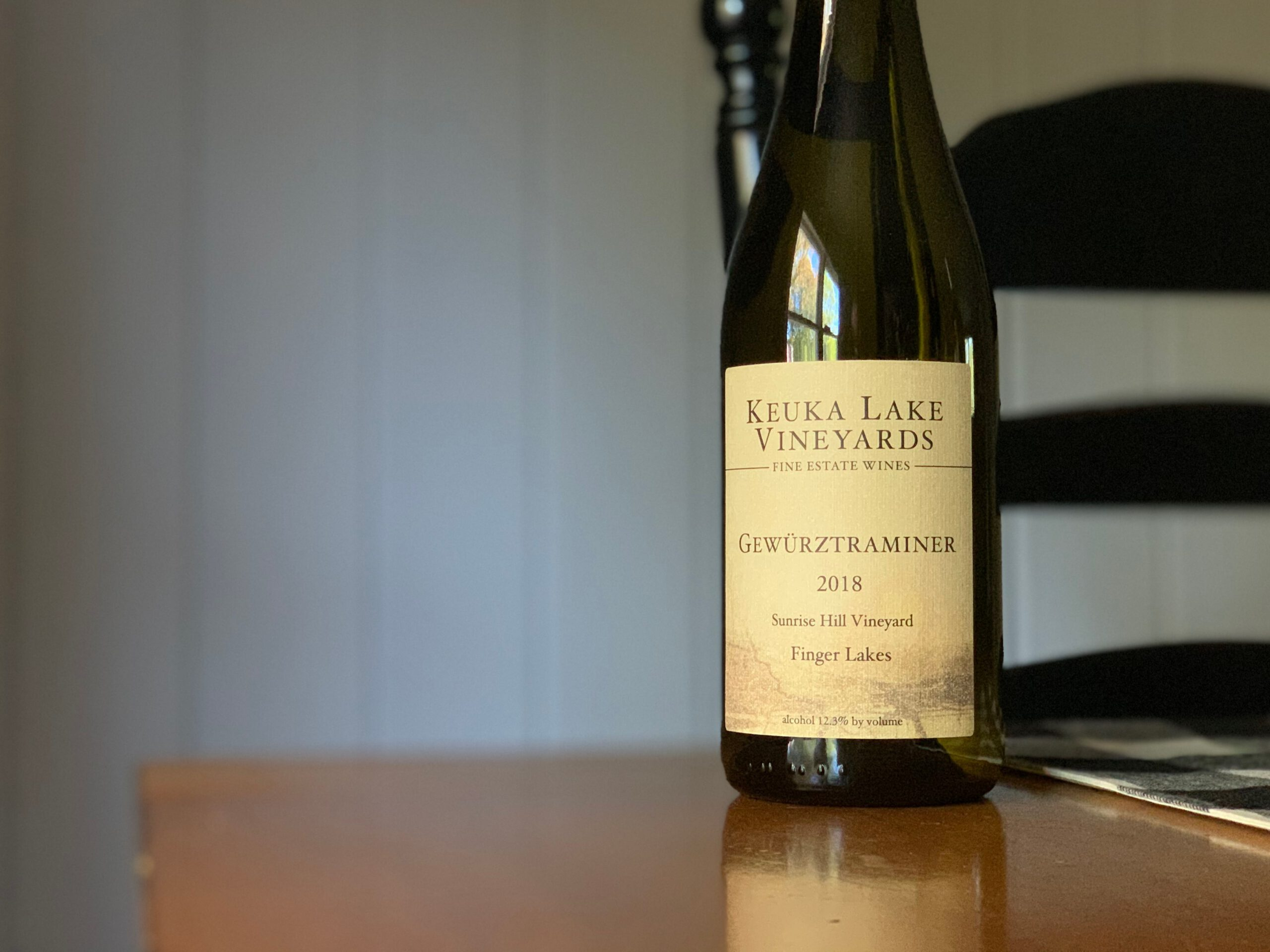 "[REVIEW] Keuka Lake Vineyards 2018 ""Sunrise Hill Vineyard"" Gewurztraminer"