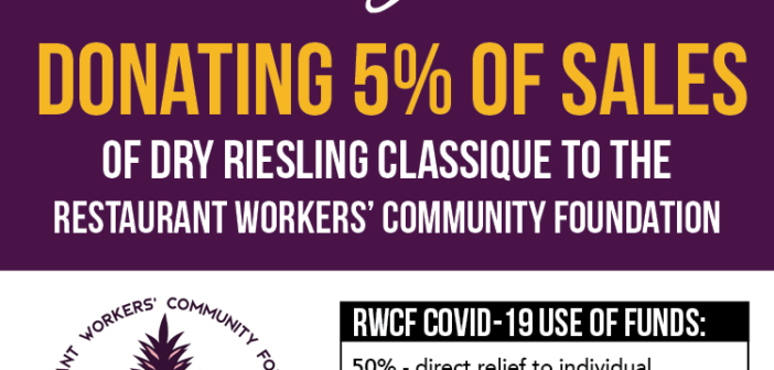 Forge Cellars Donating a Portion of 2018 Dry Riesling Classique to Restaurant Workers' Community Foundation